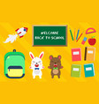 back to school set education icons vector image