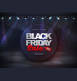 black friday sale banner on disco black background vector image