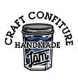 color vintage confiture emblem vector image vector image