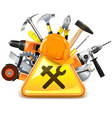 Construction Tools with Sign vector image