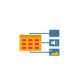 content plan icon simple flat element from vector image vector image