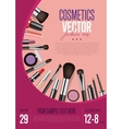 Cosmetics Promo Flyer with Date and Time vector image vector image