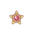 cute jewelry star vector image vector image