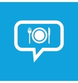 Dinner message icon vector image