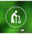 Elder Black Graphic Symbol vector image vector image
