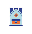 flat backpack icon vector image