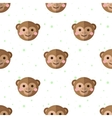 flat cartoon monkey seamless pattern vector image vector image