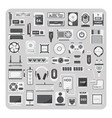 flat icons computer set vector image vector image