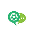 football for logo design in a chat icon vector image vector image