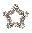 frame bohemian mandala ethnic decoration vector image