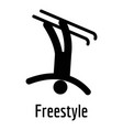 freestyle icon simple style vector image