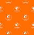 globalization pattern orange vector image vector image