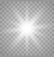 glowing light burst explosion vector image