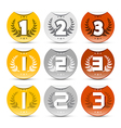 Gold Silver Bronze Labels Set vector image vector image