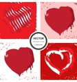 Hand sketched heart background vector image vector image