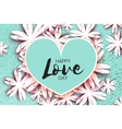 Happy Valentines Day Greeting card Paper cut vector image vector image
