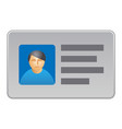 identification personal card vector image