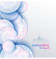 islamic ramadan kareem festival greeting card vector image vector image