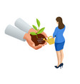 isometric concept growth new life environment vector image
