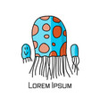 jellyfish family sketch for your design vector image vector image