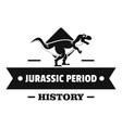 jurassic history logo simple black style vector image vector image