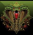 king cobra head mascot logo design vector image vector image