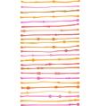 liquid organic orange pink stripe lines pattern vector image vector image