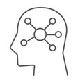 mind map thin line icon data and analytics vector image vector image