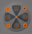 modern orange infographics in circle vector image vector image