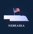 nebraska state isometric map and usa national vector image vector image