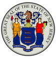new jersey state seal vector image vector image
