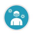 new normal wear medical mask after coronavirus vector image vector image