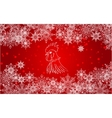 New Year red background with white snowflakes vector image vector image