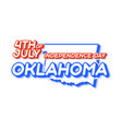 oklahoma state 4th july independence day vector image vector image