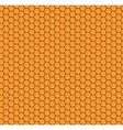 Orange honeycomb seamless pattern vector image vector image
