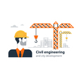 Real estate building company under construction vector image vector image