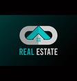 real estate logo letter g and d design vector image vector image
