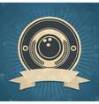 Retro Bowling Ball Emblem vector image