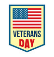 salute veterans day logo flat style vector image vector image