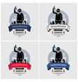 scientist and lab logo design artwork vector image