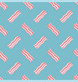 seamless breakfast pattern with bacon slices vector image