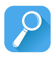 search or find icon white silhouette on blue vector image