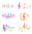 Set of Colorful Musical Notes vector image vector image