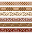 set of decorative borders celtic style ornament vector image