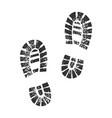 shoe marks sketch vector image