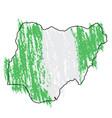 sketch of a map of nigeria vector image vector image