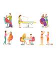 spa procedure in beauty salon cartoon banner set vector image vector image