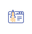 start business line icon launch crowdfunding vector image