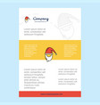 template layout for santa clause comany profile vector image vector image