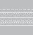 tribal silver grey seamless repeat pattern vector image vector image